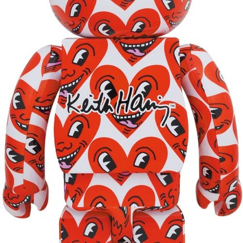 Medicom Toys 1000% Bearbrick - Keith Haring v6 (Heart Face)