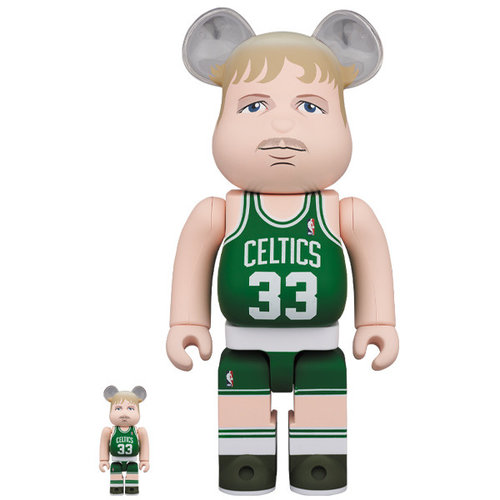 Medicom Toys 400% & 100% Bearbrick set - Larry Bird (Boston Celtics)