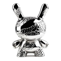 New Money Metal Dunny (Silver) by Tristan Eaton