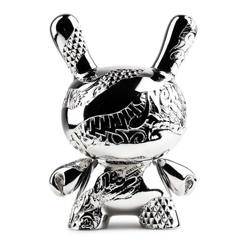 Kidrobot New Money Metal Dunny (Silver) by Tristan Eaton
