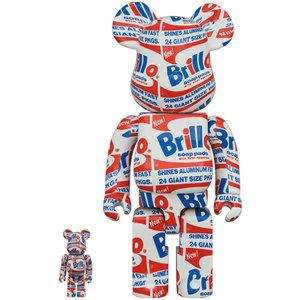 Medicom Toys 400% & 100% Bearbrick set - Andy Warhol (Brillo)