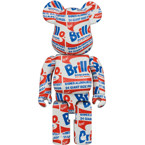 Medicom Toys [Pre-Order] 400% & 100% Bearbrick set - Andy Warhol (Brillo)