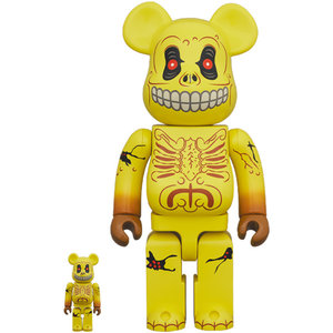 Medicom Toys 400% & 100% Bearbrick set - Skull face (Madballs)