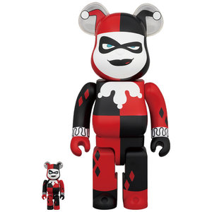 Medicom Toys 400% & 100% Bearbrick set - Harley Quinn (Batman: Animated)