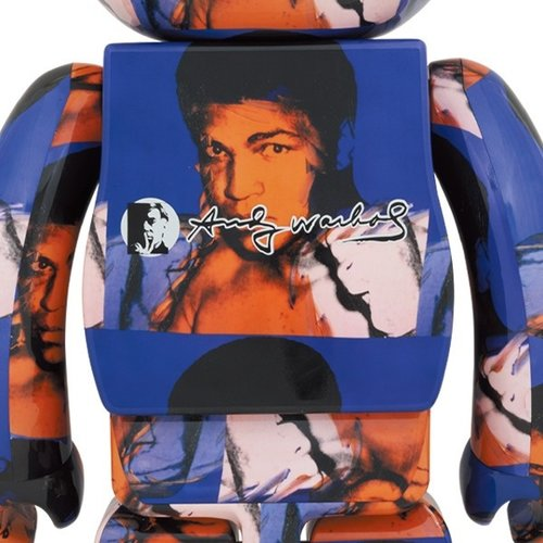 Medicom Toys [Pre-Order] 400% & 100% Bearbrick set - Andy Warhol (Muhammad Ali)