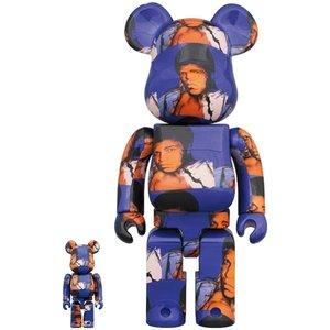 Medicom Toys 400% & 100% Bearbrick set - Andy Warhol (Muhammad Ali)
