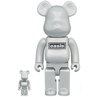400% & 100% Bearbrick set - Oasis (White Chrome)