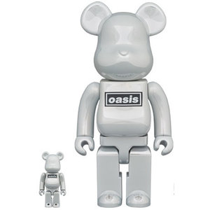 Medicom Toys 400% & 100% Bearbrick set - Oasis (White Chrome)