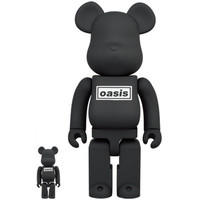 400% & 100% Bearbrick set - Oasis (Black Rubber)