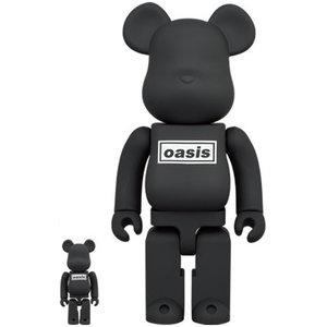 Medicom Toys 400% & 100% Bearbrick set - Oasis (Black Rubber)