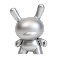 10th Anniversary Dunny (Silver) by Kidrobot