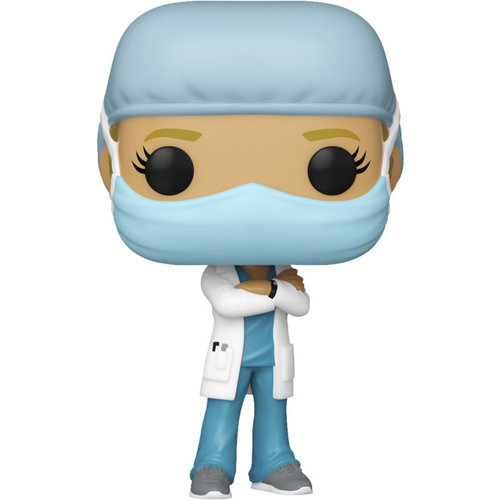 Funko Female Frontline Worker (Light-Blue) POP! Special Edition