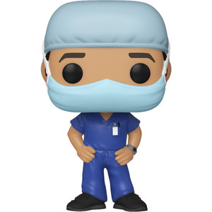 Funko Male Frontline Worker (Blue) POP! Special Edition