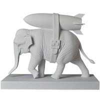 Elephant w/ Bomb (White) by Banksy (BRANDALISM)