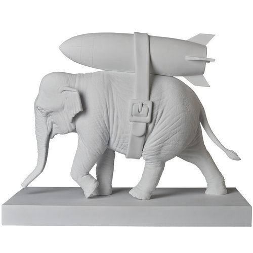 Medicom Toys [PO] Elephant w/ Bomb (White) by Banksy (BRANDALISM)