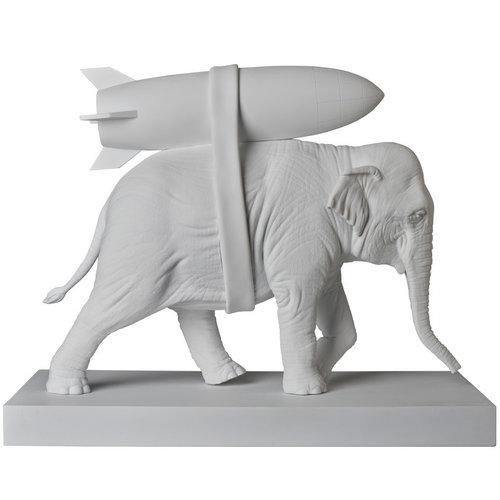 Medicom Toys Elephant w/ Bomb (White) by Banksy (BRANDALISM)