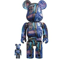 [PO] 400% & 100% Bearbrick set - Jean-Michel Basquiat v7 (Nero)