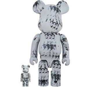 Medicom Toys 400% & 100% Bearbrick set - Andy Warhol (Elvis Presley)
