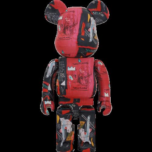 Medicom Toys [PO] 1000% Bearbrick - Andy Warhol x Jean-Michel Basquiat V1 (New Flame)