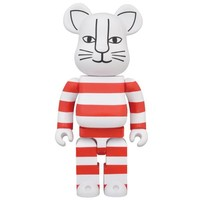 400% Bearbrick - Mikey Cat (Red) by Lisa Larson