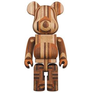 Medicom Toys 400% Karimoku Bearbrick - Yosegi Version