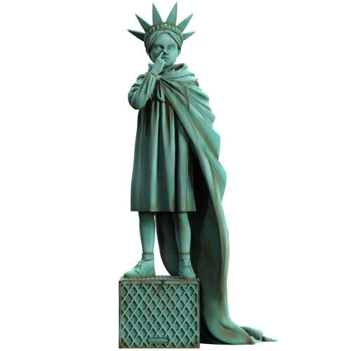 Mighty Jaxx Liberty Girl (Freedom) by Brandalised x Banksy