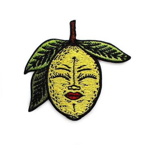 Creamlab Lemony Embroidered patch by Creamlab