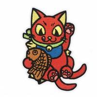 Negora Taiyaki Embroidered patch by Konatsu