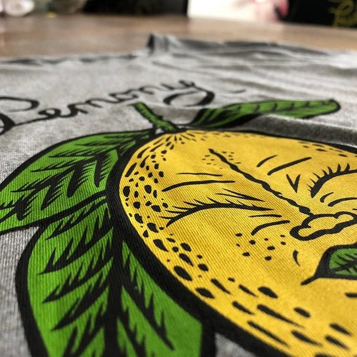 Creamlab Lemony (Mid Heather Grey) T-shirt by Kloes