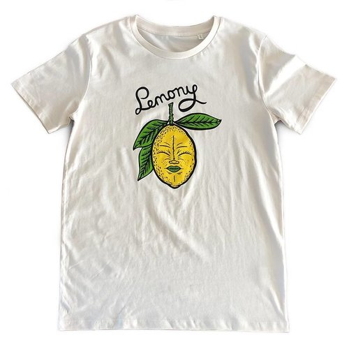 Creamlab Lemony (Vintage White) T-shirt by Kloes