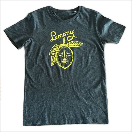 Creamlab Lemony (Dark Heather Grey) T-shirt by Kloes