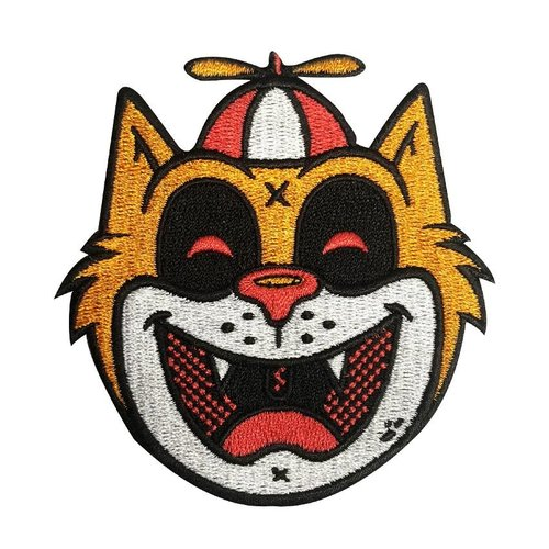 Creamlab Tommy the Cat (Orange) Embroidered patch by Ekiem