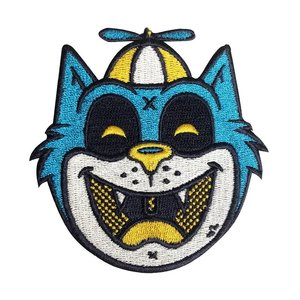 Creamlab Tommy the Cat (Blue) Embroidered patch by Ekiem