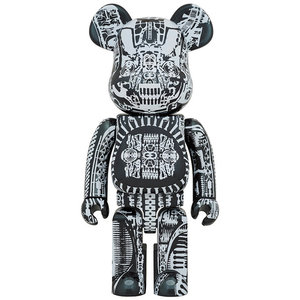 Medicom Toys 1000% Bearbrick - H.R. Giger (Black Chrome)