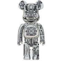 1000% Bearbrick - H.R. Giger (White Chrome)
