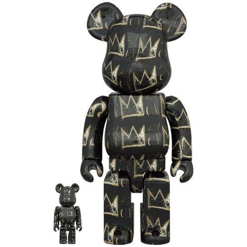 Medicom Toys [Pre-Order] 400% & 100% Bearbrick set - Jean-Michel Basquiat v8 (Crowns)