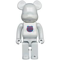 400% Bearbrick - Bearbrick Logo - 1st Model (White Chrome)