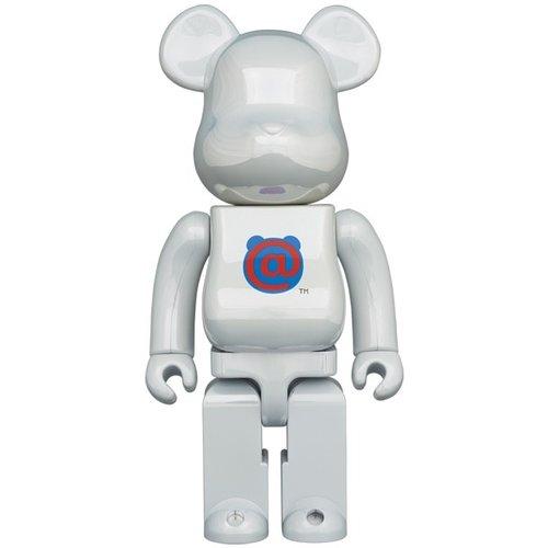 Medicom Toys [Pre-Order] 400% Bearbrick - Bearbrick Logo - 1st Model (White Chrome)