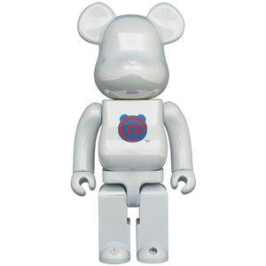 Medicom Toys 1000% Bearbrick - Bearbrick Logo - 1st Model (White Chrome)