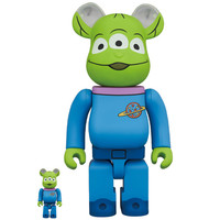 400% & 100% Bearbrick Set - Alien (Toy Story) by Disney