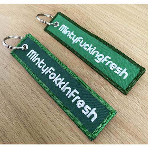 Creamlab Mintyfresh (Green #01) Flight Tag Keychain