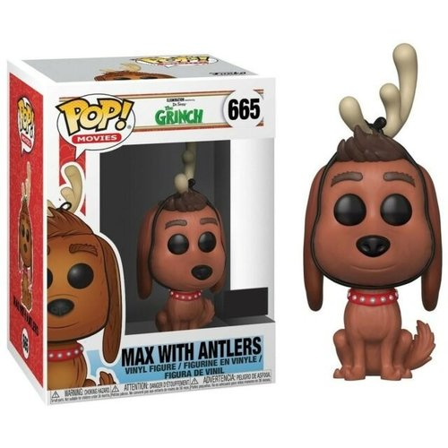 Funko Max with Antlers #665 (The Grinch) POP! Movies