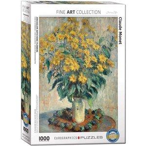 Eurographics Jerusalem Artichoke Flowers Puzzle (1000 pcs) by Claude Monet