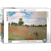 The Poppy Field Puzzle (1000 pcs) by Claude Monet