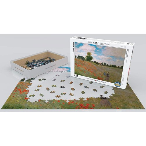 Eurographics The Poppy Field Puzzle (1000 pcs) by Claude Monet