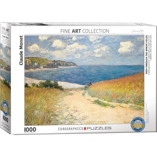 Eurographics Path Through the Wheat Fields Puzzle (1000 pcs) by Claude Monet
