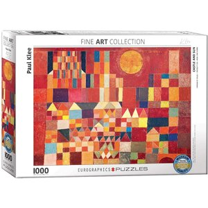 Eurographics Castle and Sun Puzzle (1000 pcs) by Paul Klee