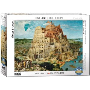 Eurographics The Tower of Babel Puzzle (1000 pcs) by Pieter Bruegel
