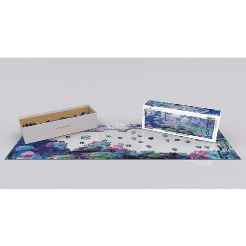 Eurographics Waterlilies Panorama Puzzle (1000 pcs) by Claude Monet