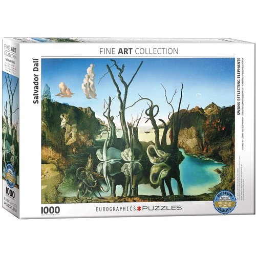 Eurographics Swans Reflecting Elephants Puzzle (1000 pcs) by Salvador Dalí